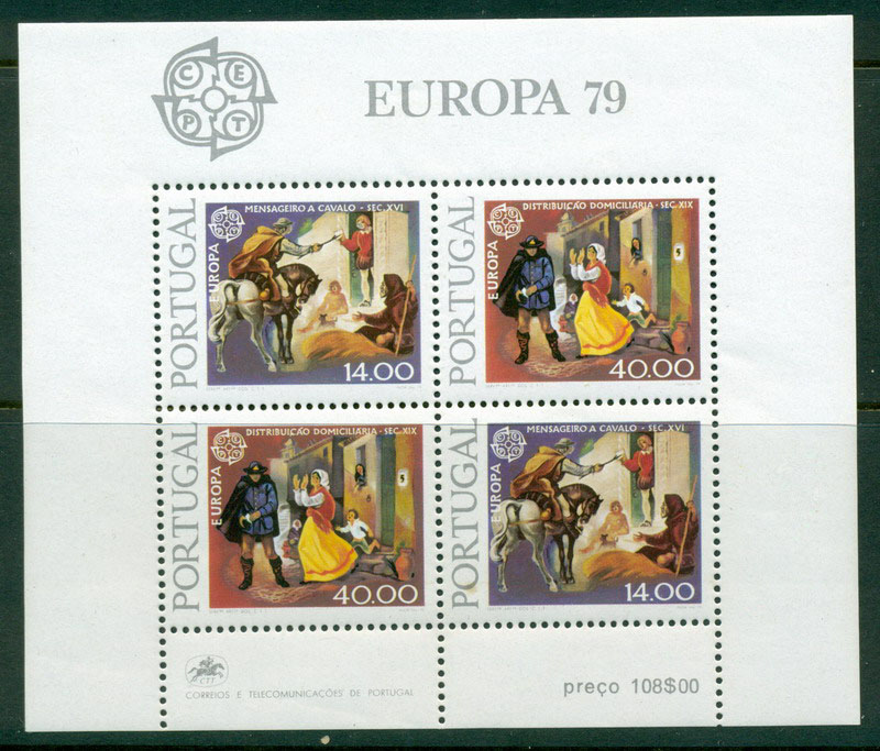 Portugal 1979 Europa (tone spot) MS MUH Lot16148