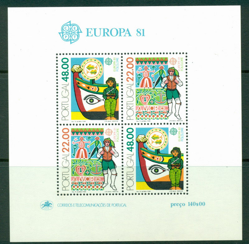 Portugal 1981 Europa MS MUH Lot16153