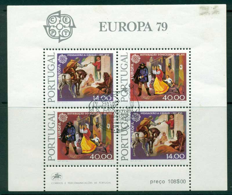 Portugal 1979 Europa (margin stain ) MS CTO Lot16162