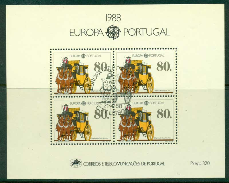 Portugal 1988 Europa MS CTO Lot16169