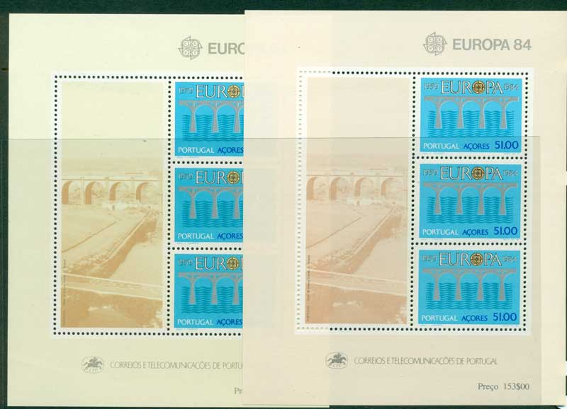 Azores 1984 Europa MS 2x shades MUH Lot16176