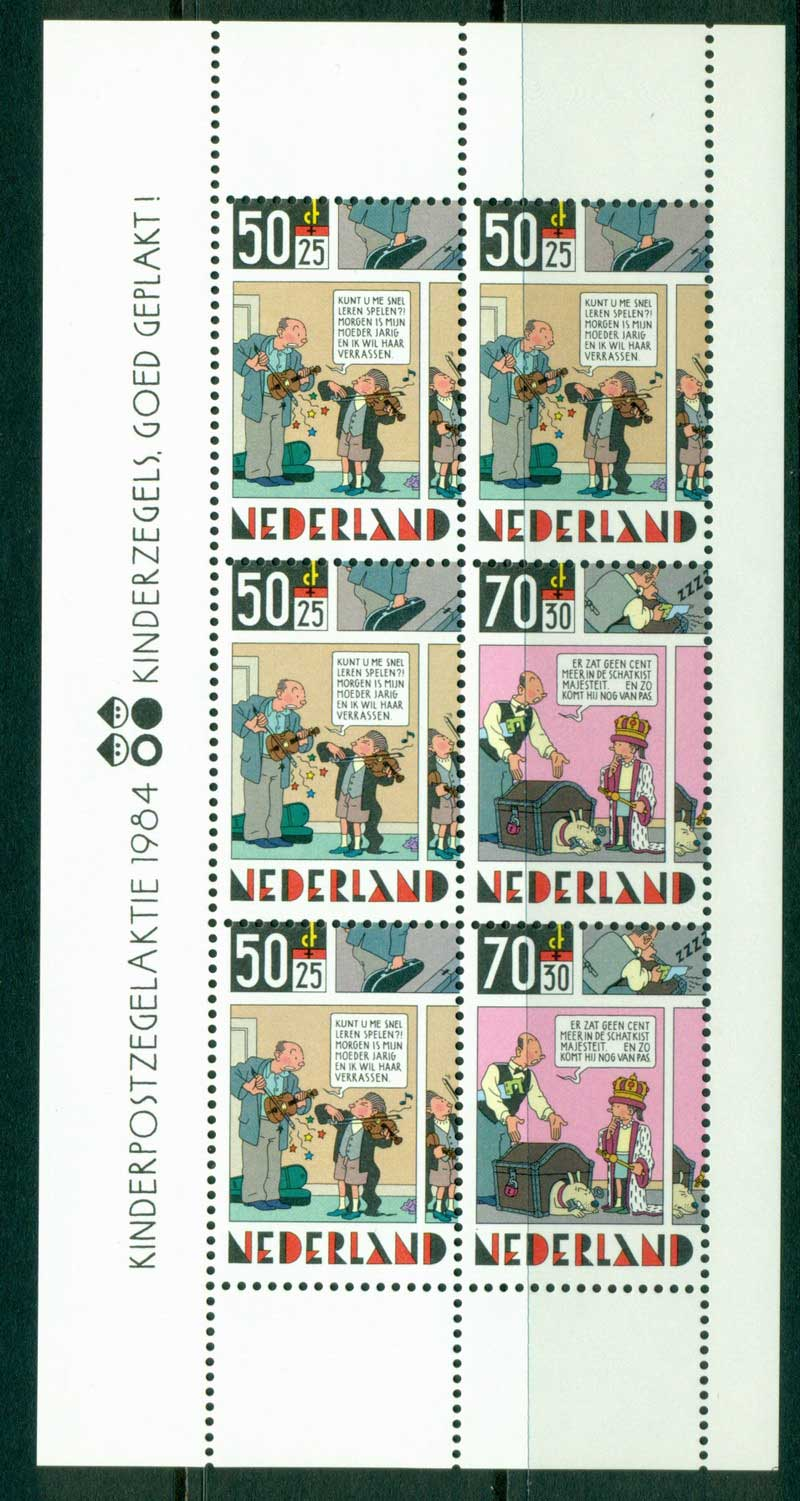 Netherlands 1984 Child Welfare MS MUH Lot16288