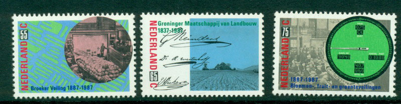 Netherlands 1987 Produce Auction MUH Lot16297