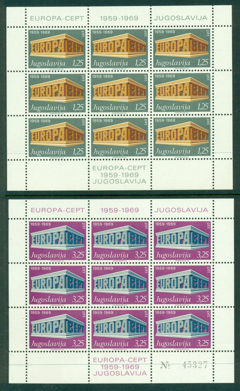 Yugoslavia 1969 Europa Sheet 9 MUH Lot16363