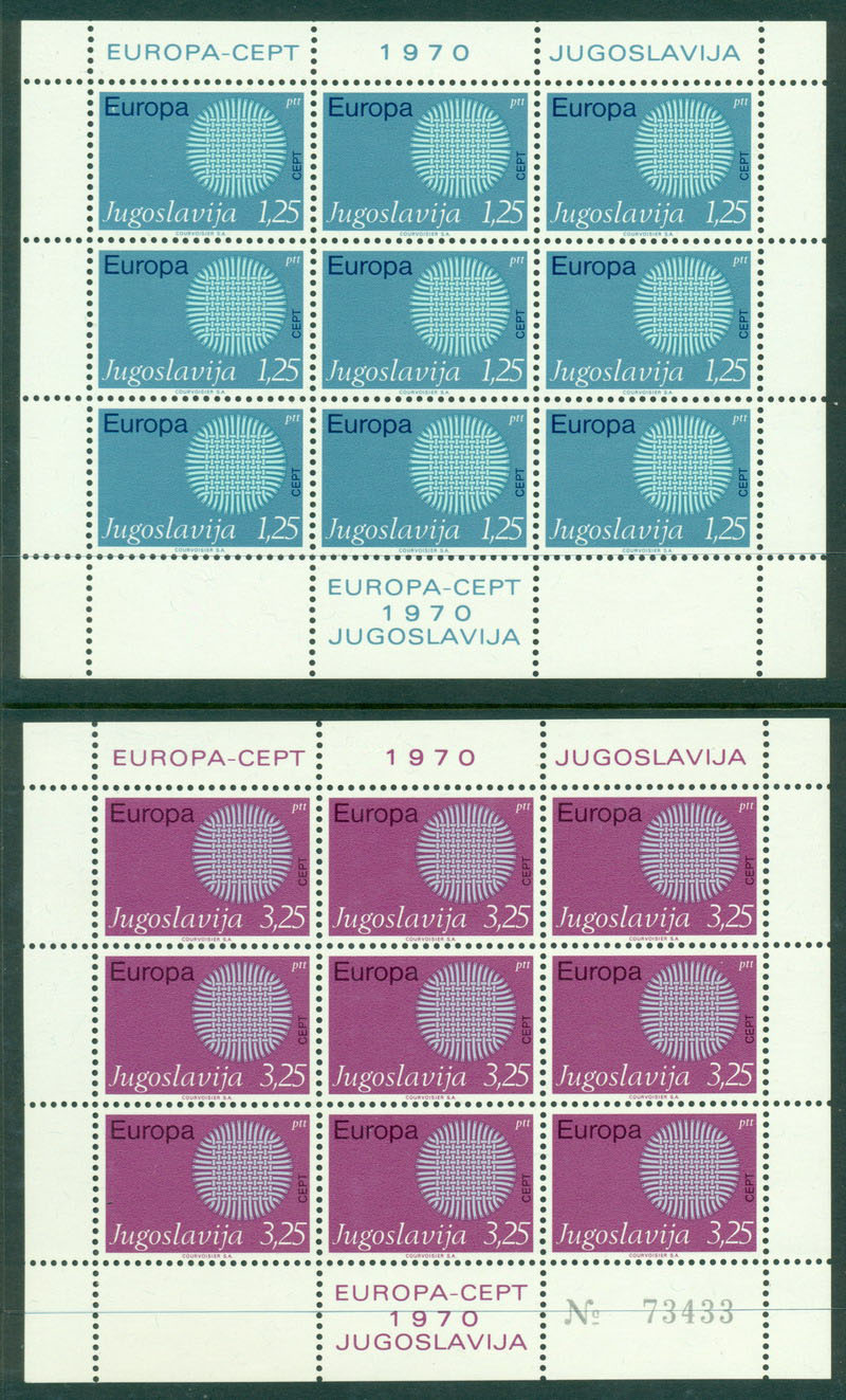 Yugoslavia 1970 Europa Sheet 9 MUH Lot16364