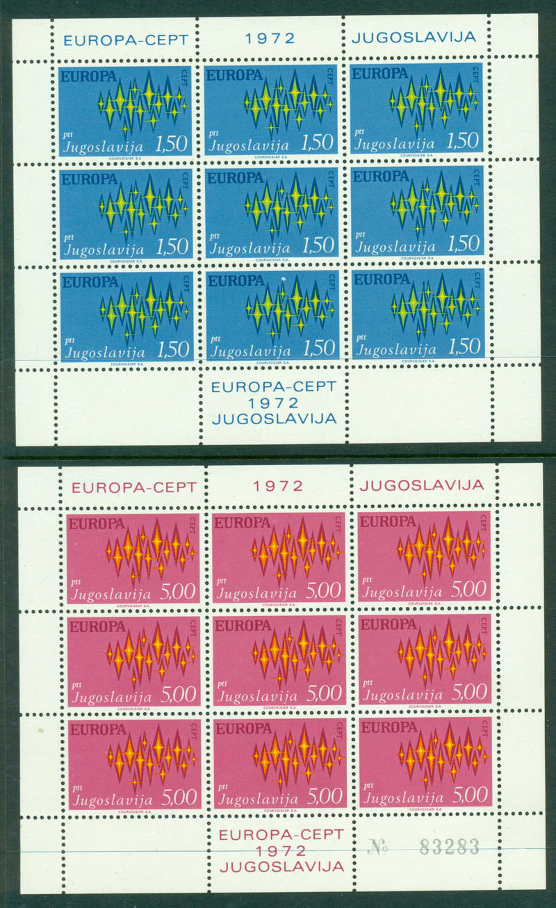Yugoslavia 1972 Europa Sheet 9 MUH Lot16366