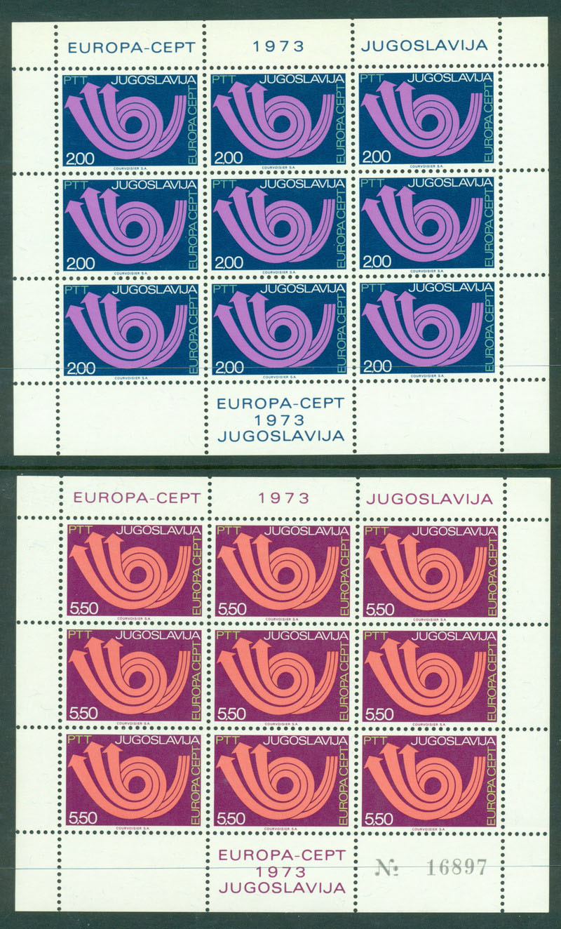Yugoslavia 1973 Europa Sheet 9 MUH Lot16367