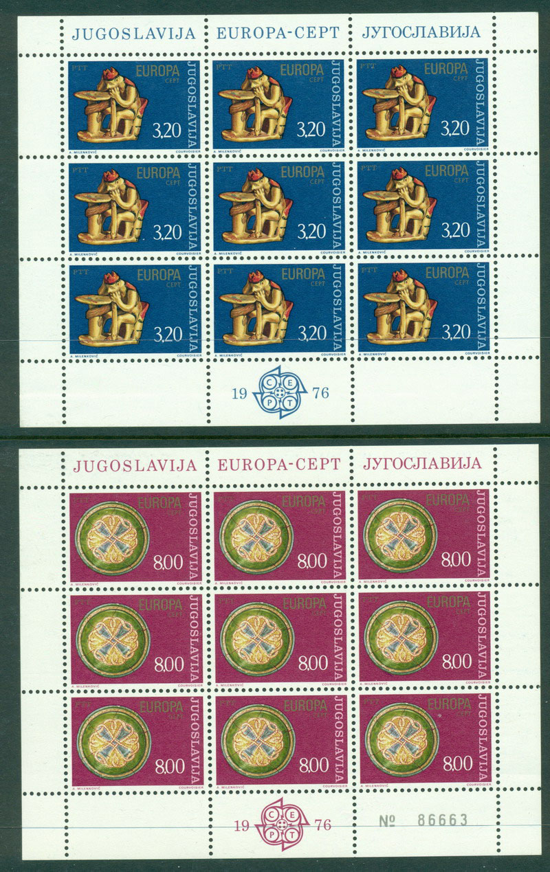 Yugoslavia 1976 Europa Sheet 9 MUH Lot16371
