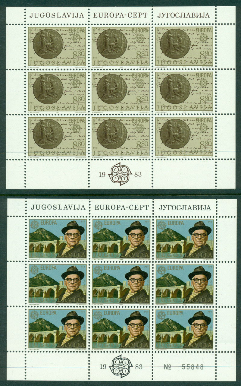 Yugoslavia 1983 Europa Sheet 9 MUH Lot16381
