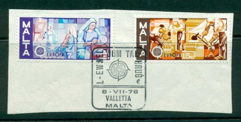 Malta 1976 Europa on piece FU Lot16427