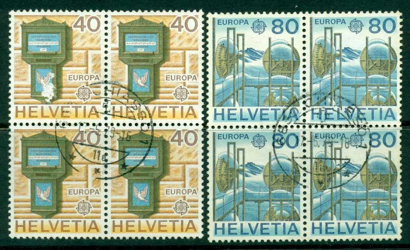 Switzerland 1979 Europa Block 4 FU Lot16431