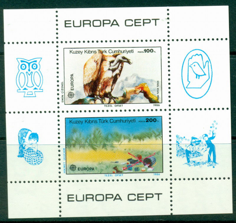Cyprus Turkish 1986 Europa MS MUH Lot16482