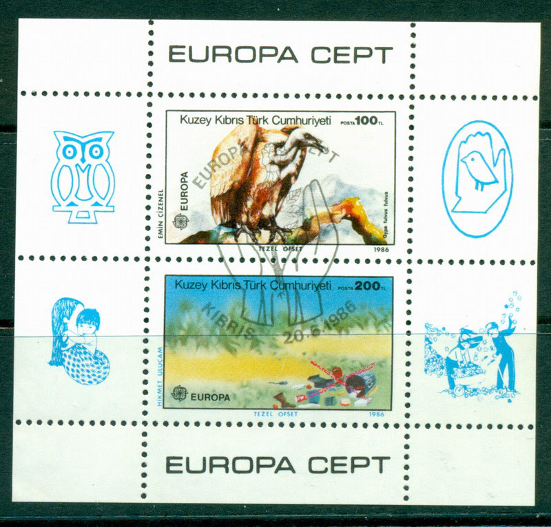 Cyprus Turkish 1986 Europa MS CTO Lot16483