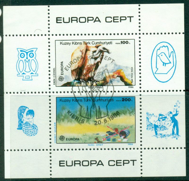 Cyprus Turkish 1986 Europa MS CTO Lot16493