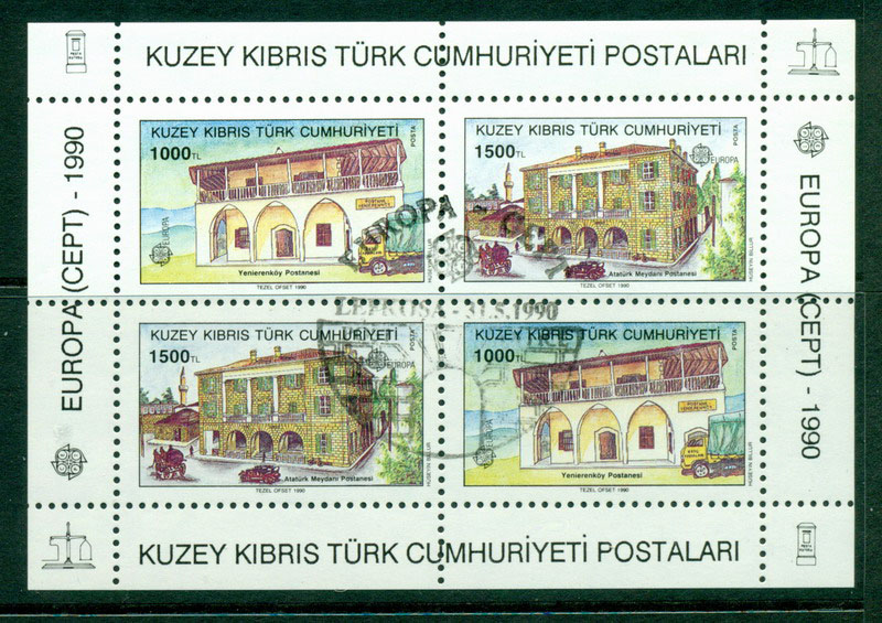 Cyprus Turkish 1990 Europa MS CTO Lot16494