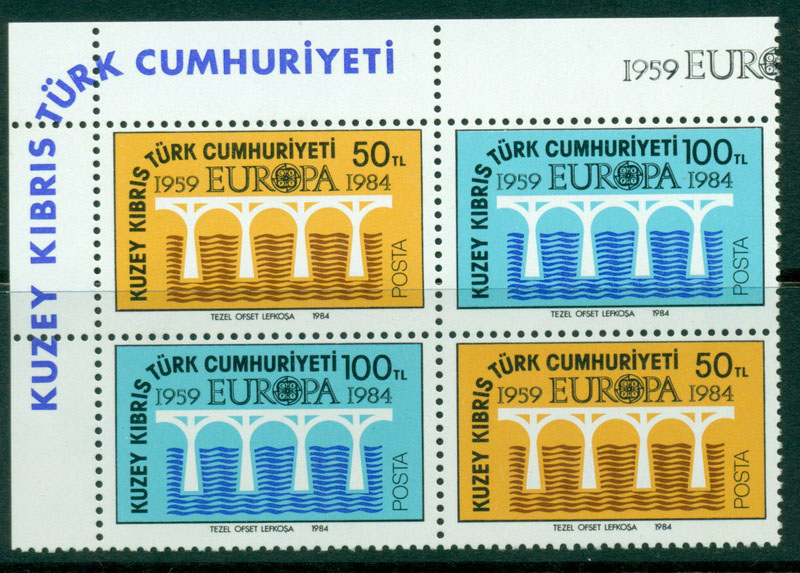 Cyprus Turkish 1984 Europa Block 4 MUH Lot16498