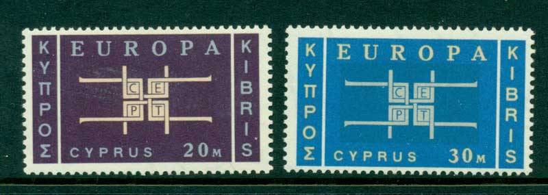 Cyprus 1963 Europa 20m, 30m MUH Lot16701 - Click Image to Close
