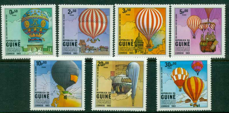 Guinea Bissau 1983 Hot Air Balloons MUH Lot16806