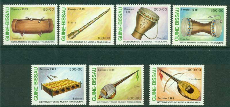 Guinea Bissau 1989 Musical Instruments MUH Lot16811