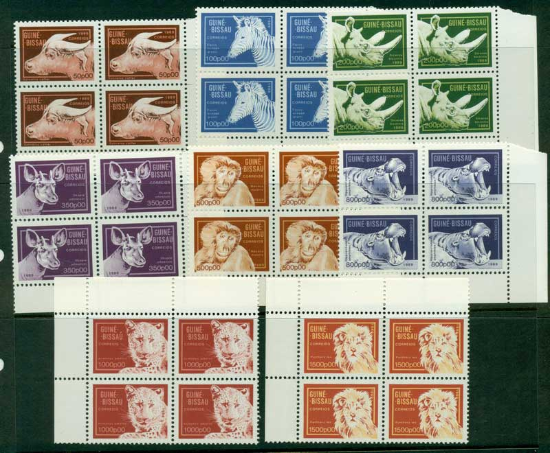 Guinea Bissau 1989 Wild Animals Block 4 MUH Lot16814