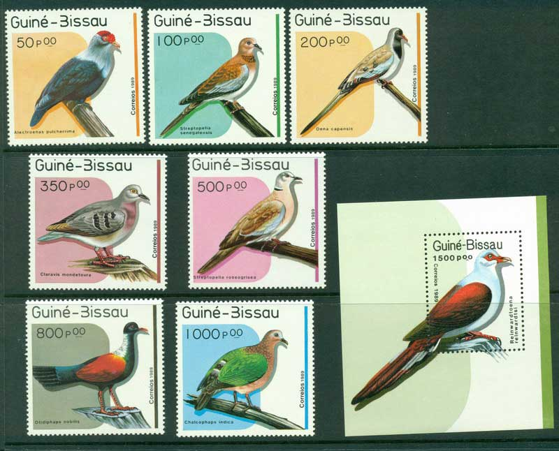 Guinea Bissau 1989 Birds + MS MUH Lot16815