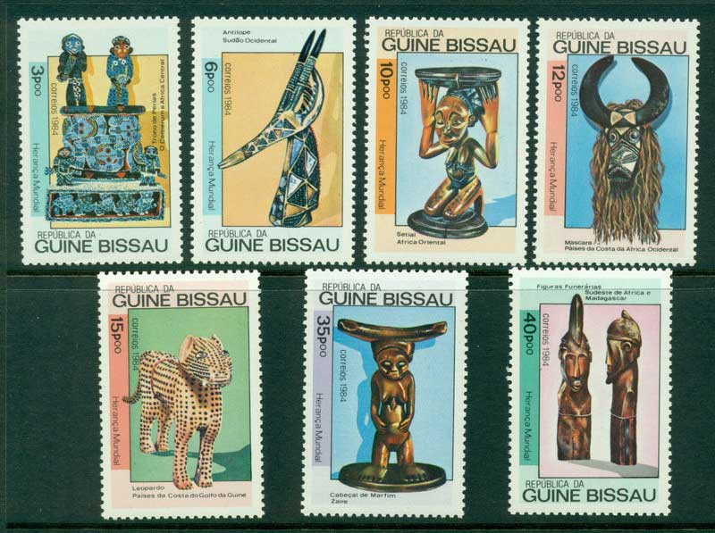 Guinea Bissau 1984 Wood Sculptures MUH Lot16819