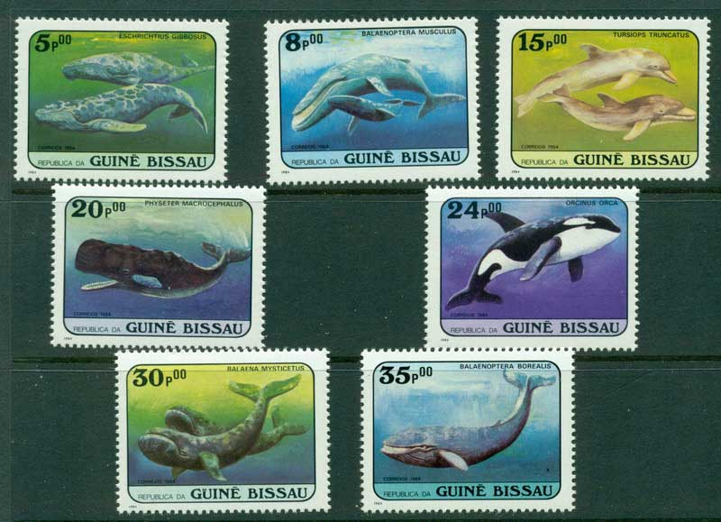 Guinea Bissau 1984 Whales MUH Lot16831