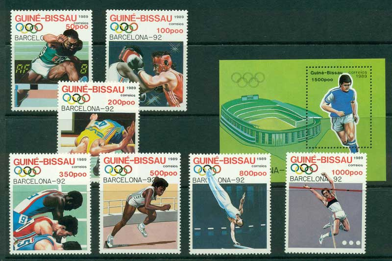 Guinea Bissau 1989 Olympics+ MS MUH Lot16844