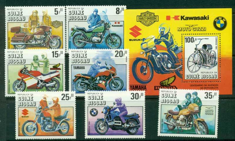 Guinea Bissau 1985 Motorcycles + MS MUH Lot16848