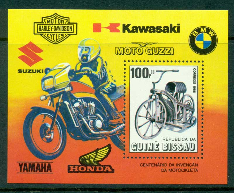 Guinea Bissau 1985 Motorcycles MS MUH Lot16849