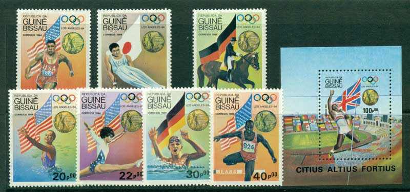 Guinea Bissau 1984 Olympics + MS MUH Lot16850