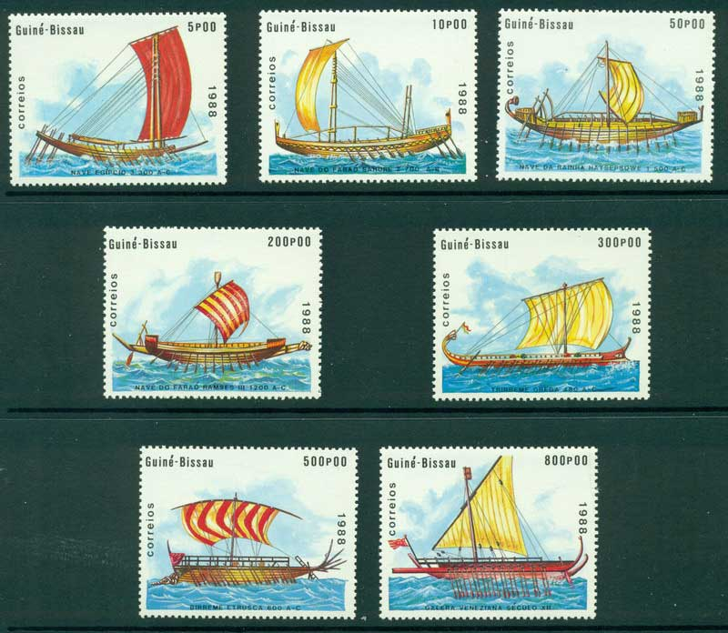 Guinea Bissau 1988 Ancient Ships MUH Lot16855
