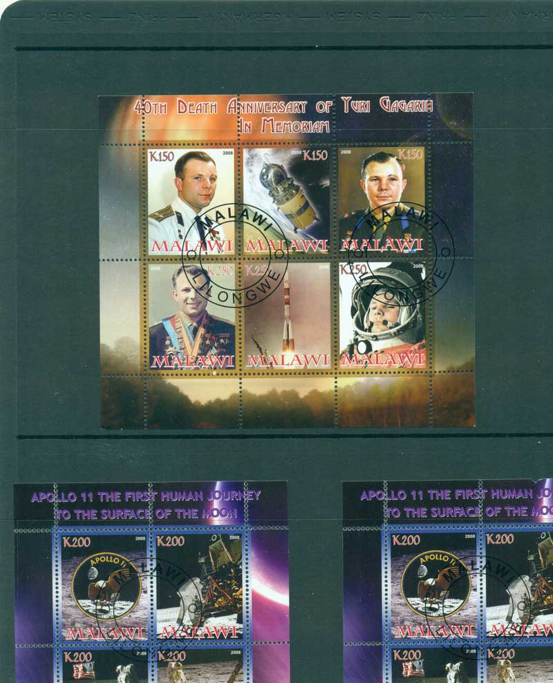 Malawi 2008 Yuri Gagarin MS CTO Lot17237