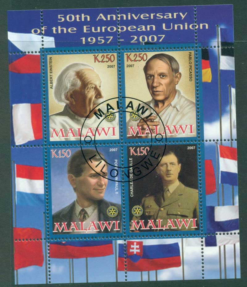Malawi 2007 European Union MS CTO Lot17240