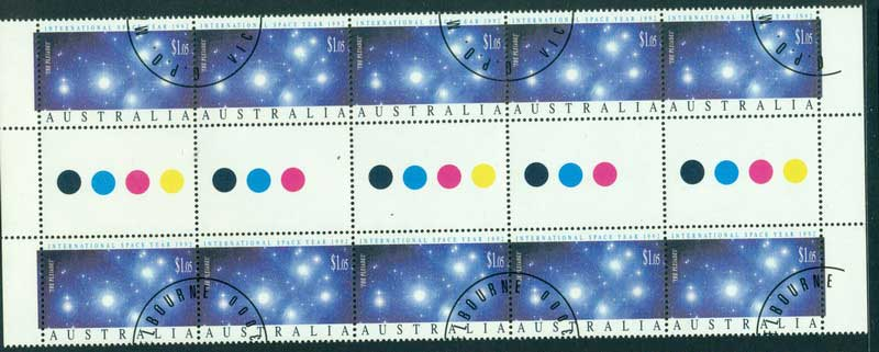 Australia 1992 $1.05 Space Gutter Strip CTO Lot17336