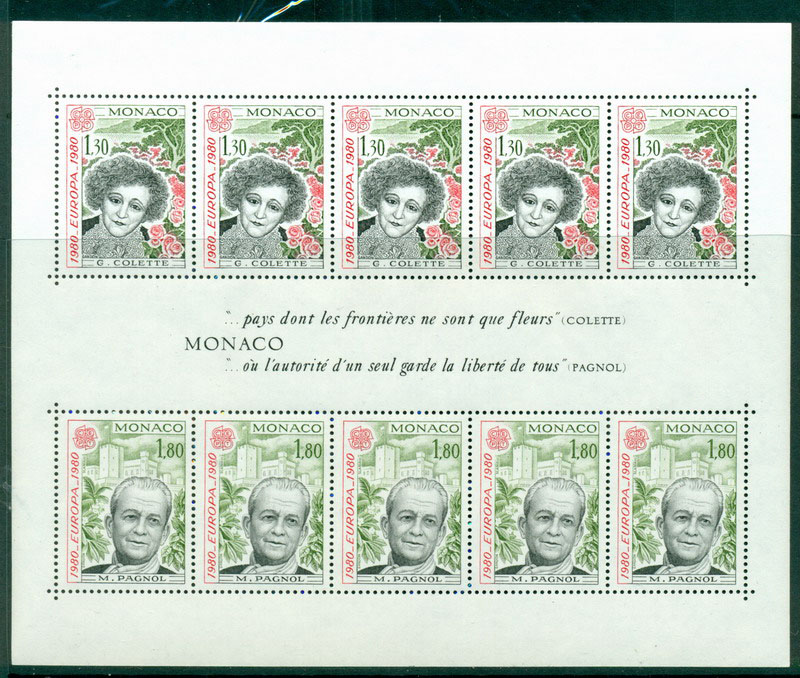 Monaco 1980 Europa MS MUH Lot17416