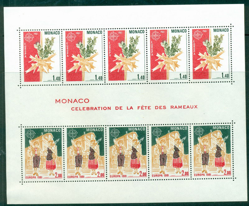 Monaco 1981 Europa MS MUH Lot17417