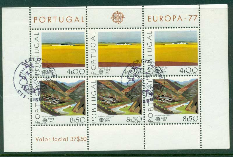 Portugal 1977 Europa MS FDI CTO Lot17434