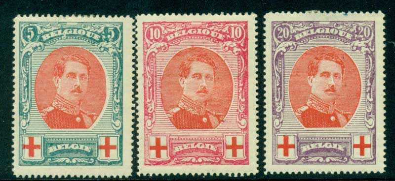 Belgium 1915 King Albert I Red Cross MH Lot17503