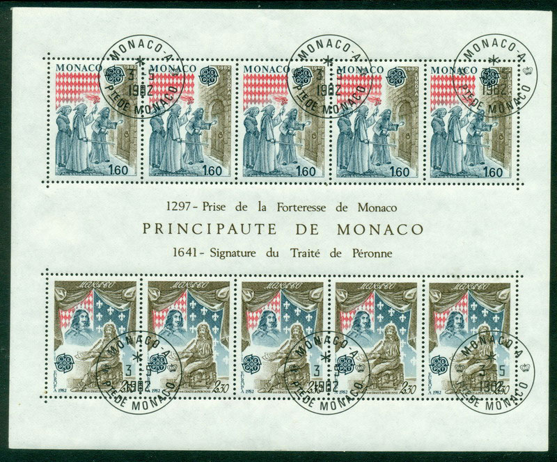 Monaco 1982 Europa MS FDI CTO Lot17605