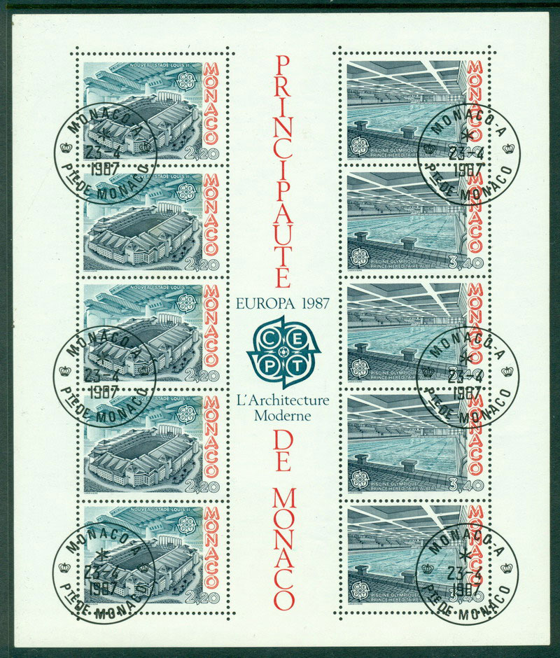 Monaco 1987 Europa MS FDI CTO Lot17610