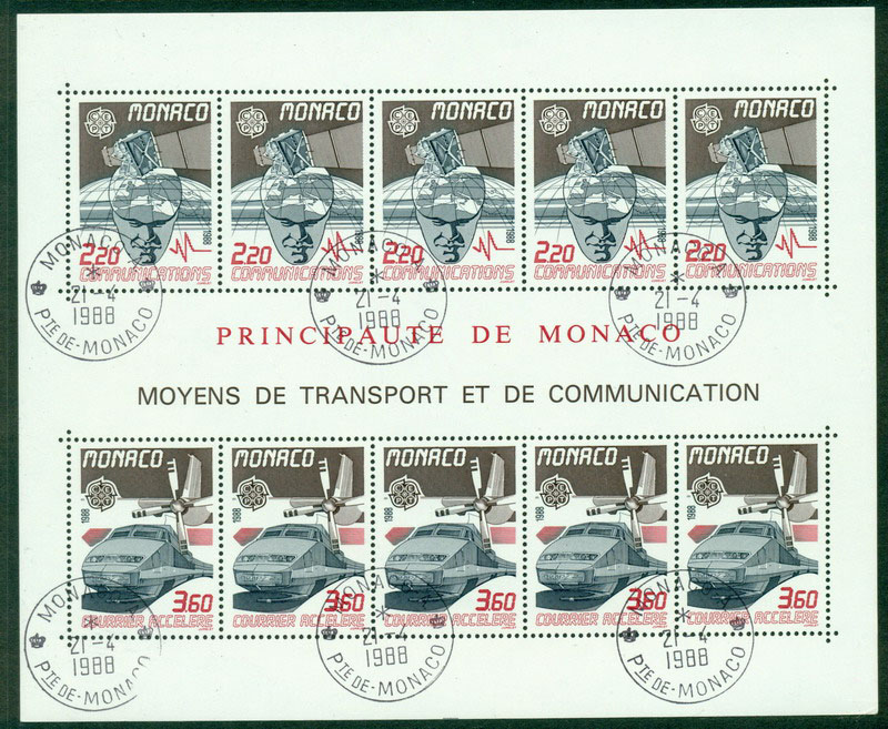 Monaco 1988 Europa MS FDI CTO Lot17611