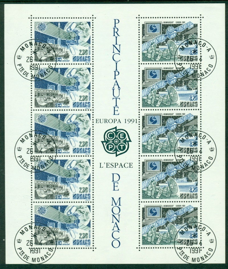 Monaco 1991 Europa MS FDI CTO Lot17614