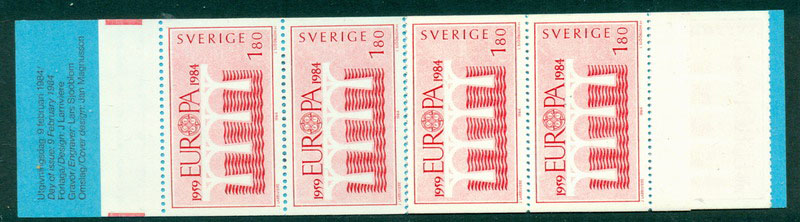 Sweden 1984 Europa Booklet (10) MUH Lot17622