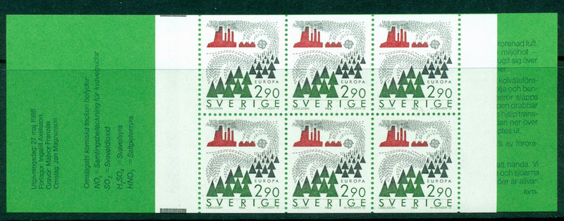 Sweden 1986 Europa Booklet MUH Lot17627