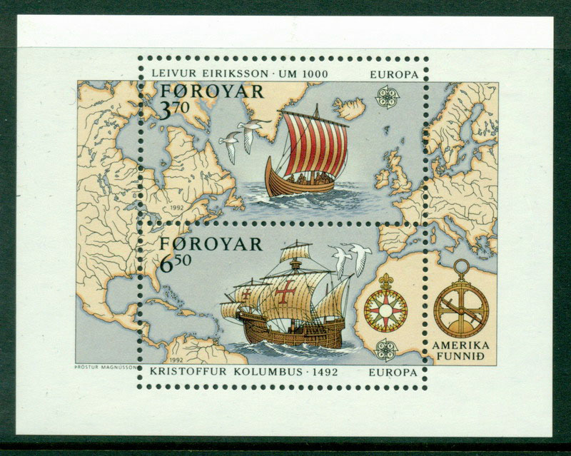 Faroe Is 1992 Europa MS MUH Lot17653