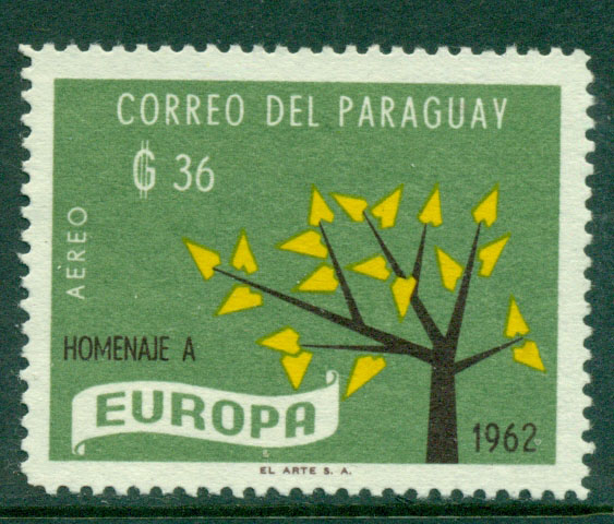 Paraguay 1962 36g Europa MNG Lot17667
