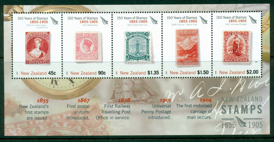 New Zealand 2005 Stamp Anniversary MS (1905) MUH Lot17680