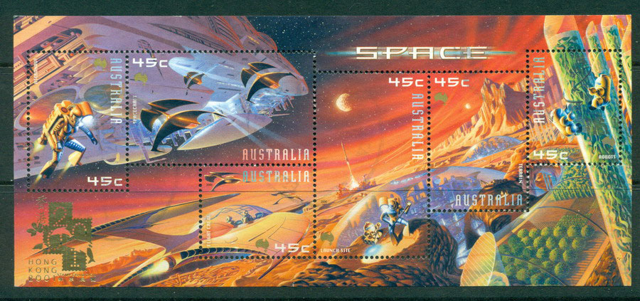 Australia 2000 Space HK Opt MS VFU Lot17764