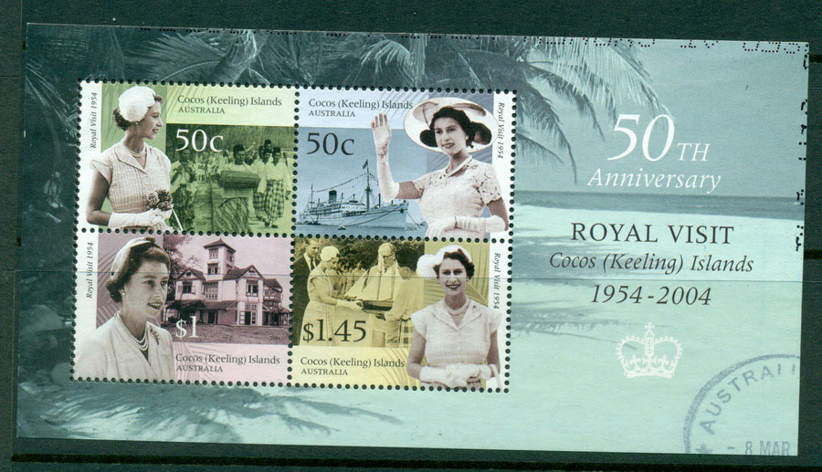 Cocos Keeling Is 2004 Royal Visit MS VFU Lot17805